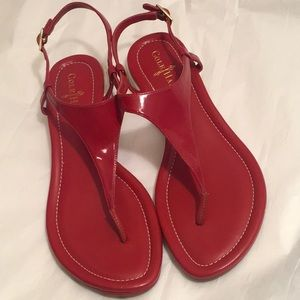 8.5 COLE HAAN + NIKE Red Leather AIR BRIA Sandals
